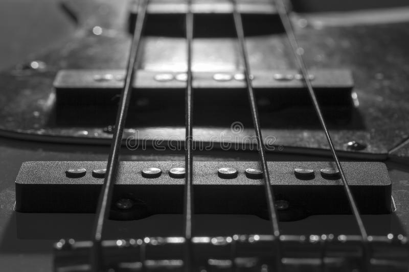 Bass Guitar Pickups fotografia de stock royalty free