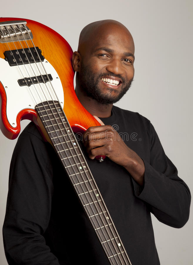 BAss Guitar Player royalty free stock images