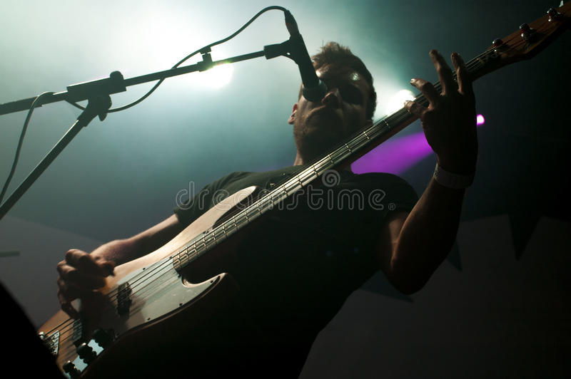 Bass Guitar UFO Abduction stock images