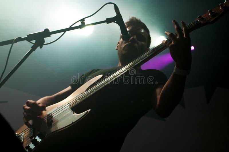 Bass Guitar-UFOabductie stock afbeeldingen