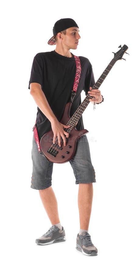 Bass Guitarist royaltyfri foto
