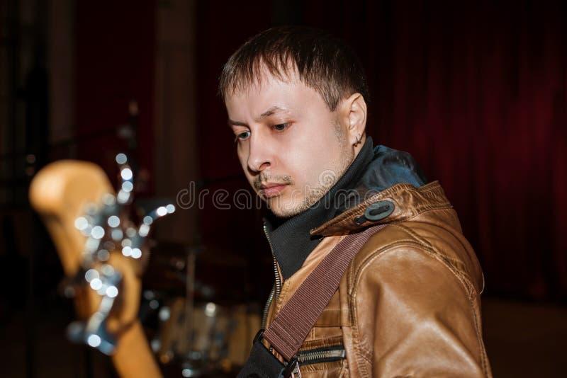 Bass Guitarist immagine stock