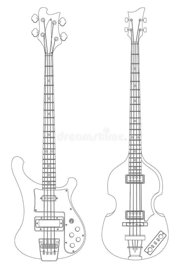 Download Bass guitars stock vector. Image of instrument, illustration - 13074365