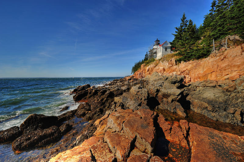 Download Bass Harbor Head Light stock photo. Image of morning - 26923210