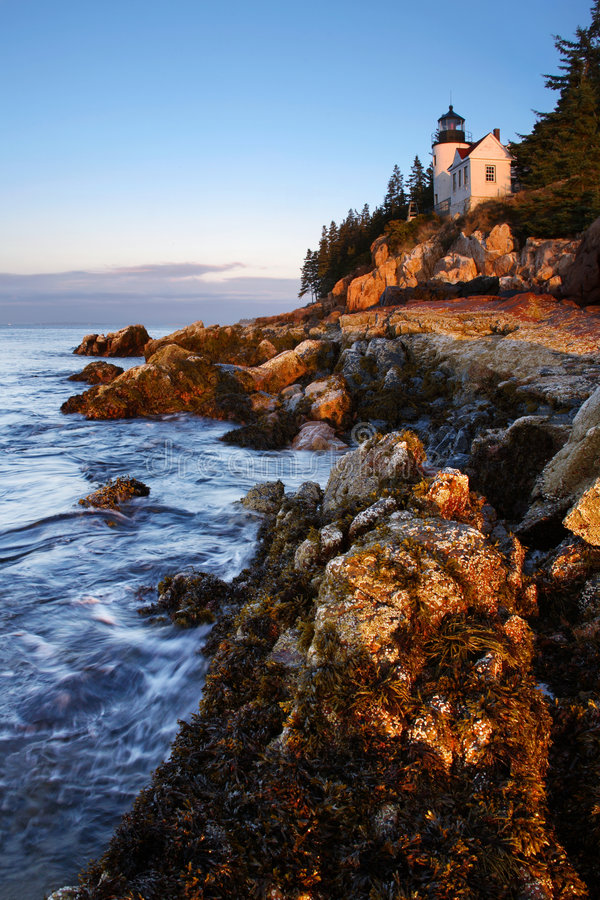 Bass Harbor Head, Light. Mount Desert Island, Acadia National Park, Maine royalty free stock image