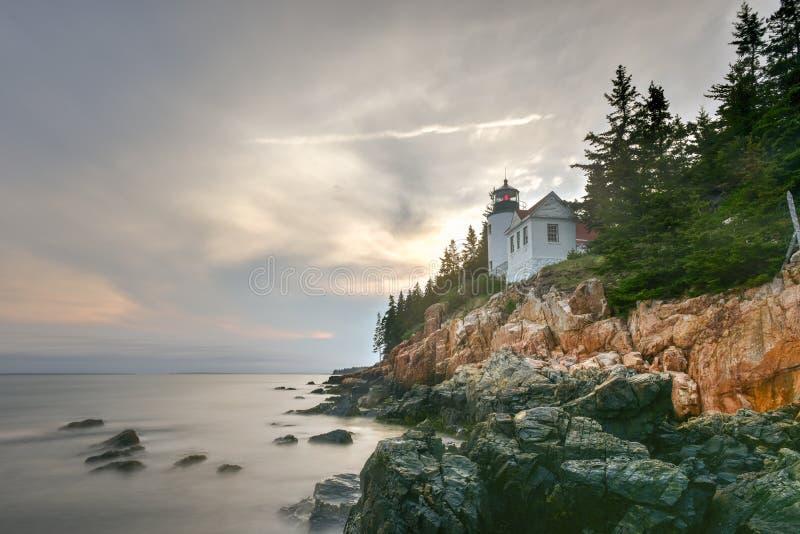 Bass Harbor Head Light, acadia parco nazionale, Maine immagine stock libera da diritti