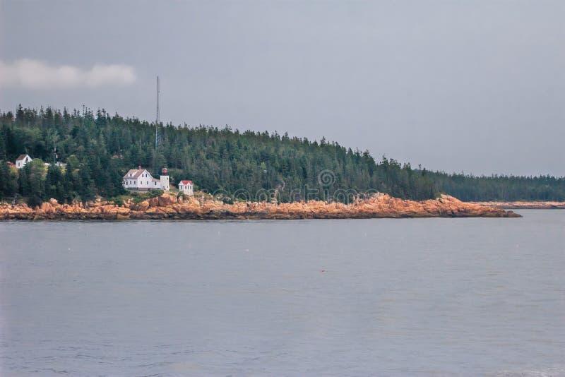 Bass Harbor Head Lighthouse fotografia de stock royalty free