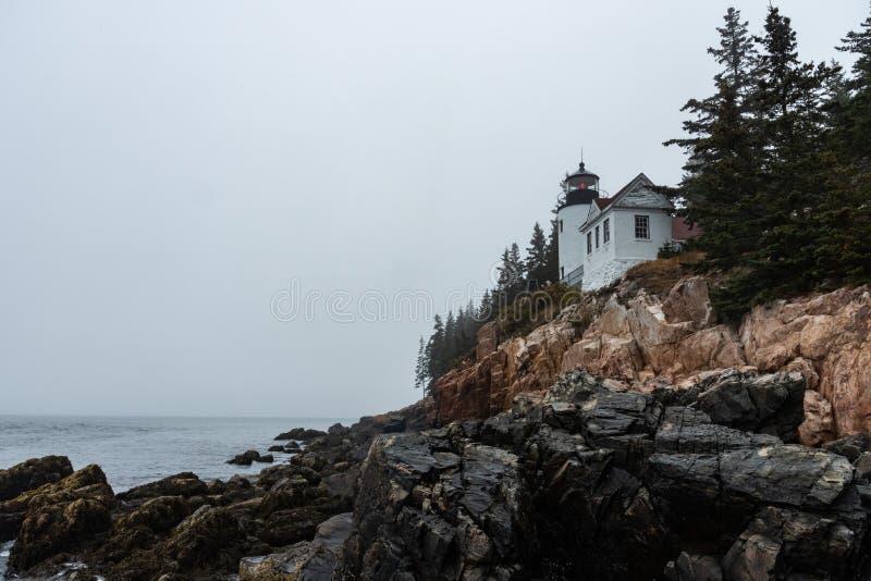 Bass Harbor Head Lighthouse foto de stock royalty free