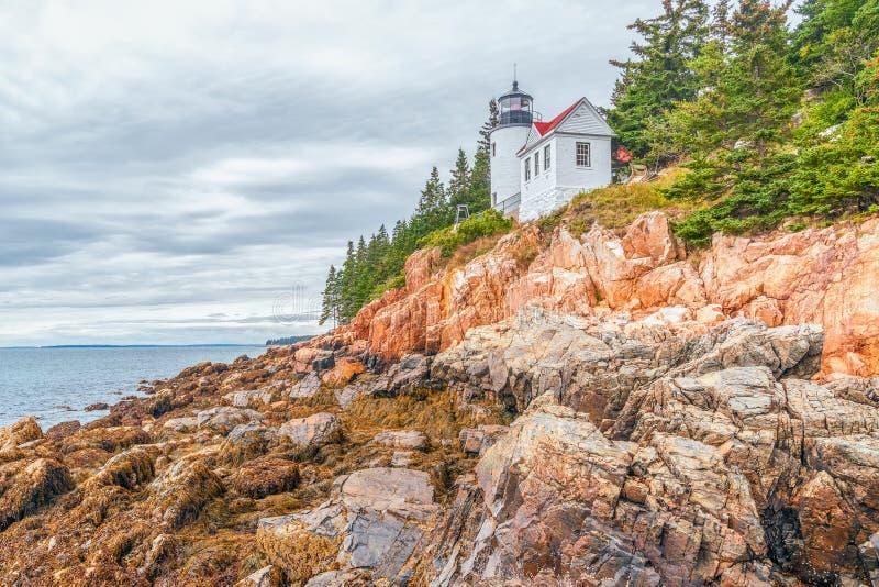 Bass Harbor Head Lighthouse.Mount Desert Island.Maine royalty free stock photos