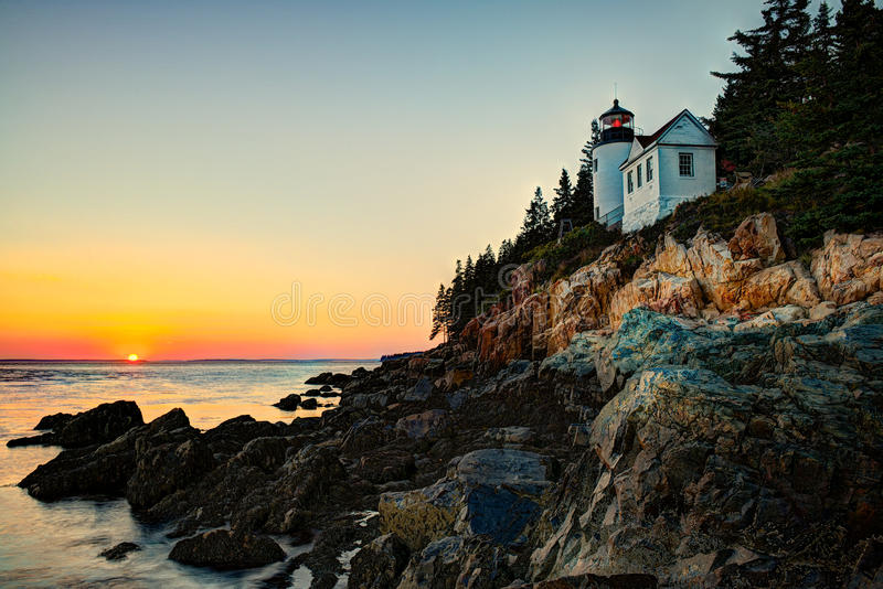 Bass Harbor Light fotografia de stock royalty free