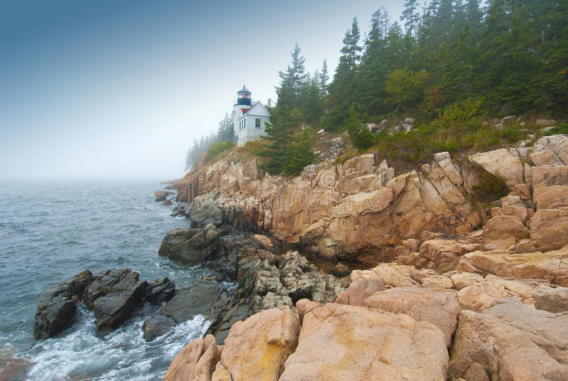 Bass harbor lighthouse royalty free stock images