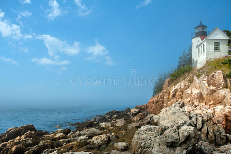 Bass Harbor lighthouse stock photography