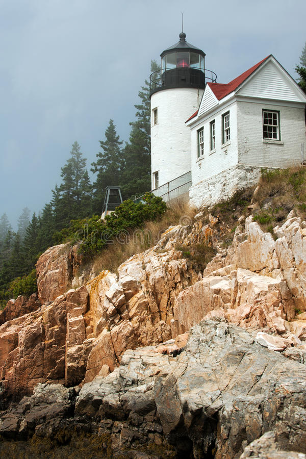 Bass Harbor lighthouse stock images