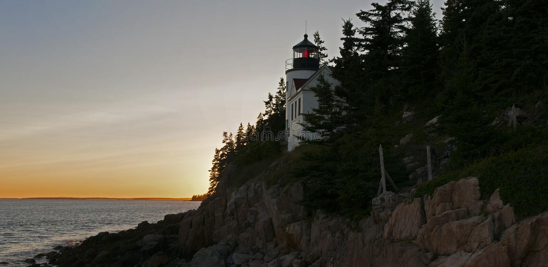 Bass Harbor Lighthouse imagens de stock royalty free