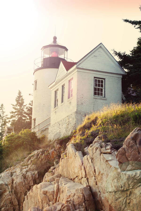 Bass Harbor Lighthouse royalty-vrije stock fotografie