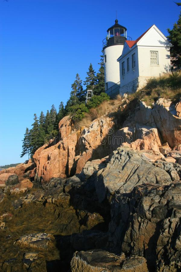 Bass Harbor Lighthouse vertical royalty free stock photo