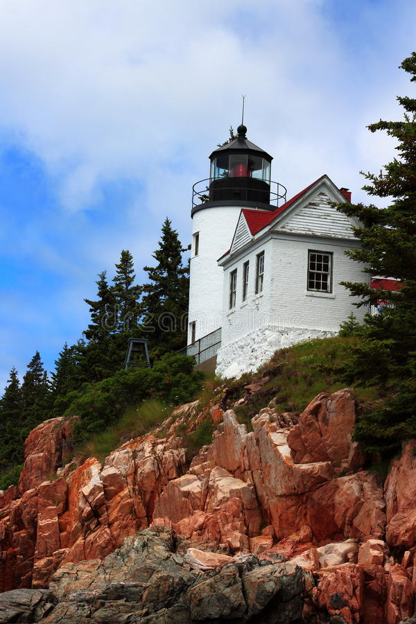 Bass Lighthouse Acadia National Park images stock