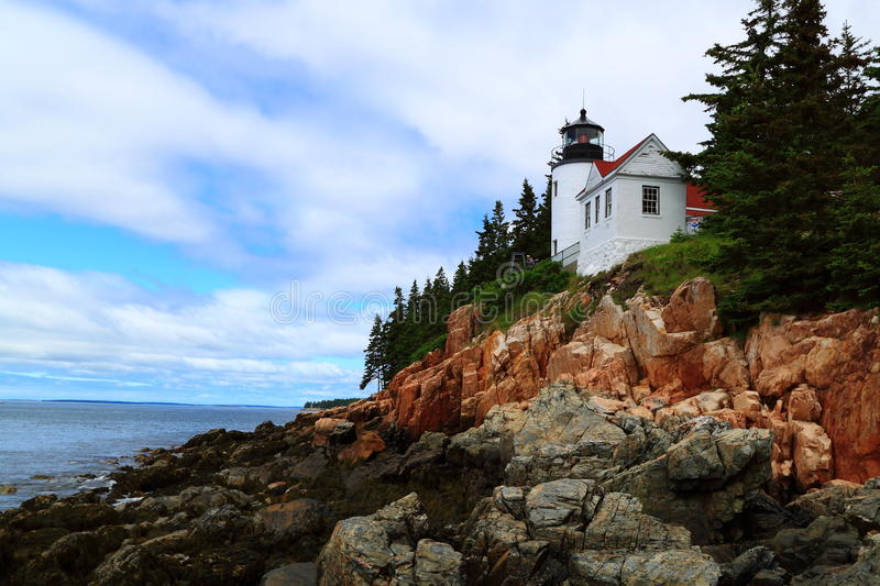 Bass Lighthouse Acadia National Park royaltyfria foton