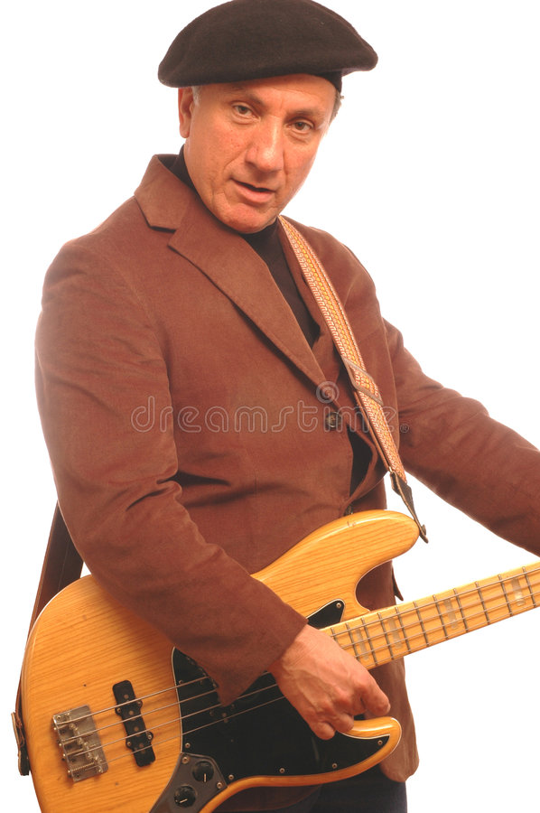Download Bass man stock image. Image of happy, middle, electric - 508711