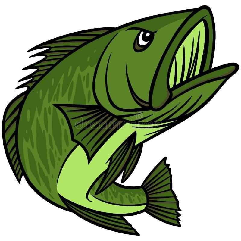 Bass Mascot stock de ilustración