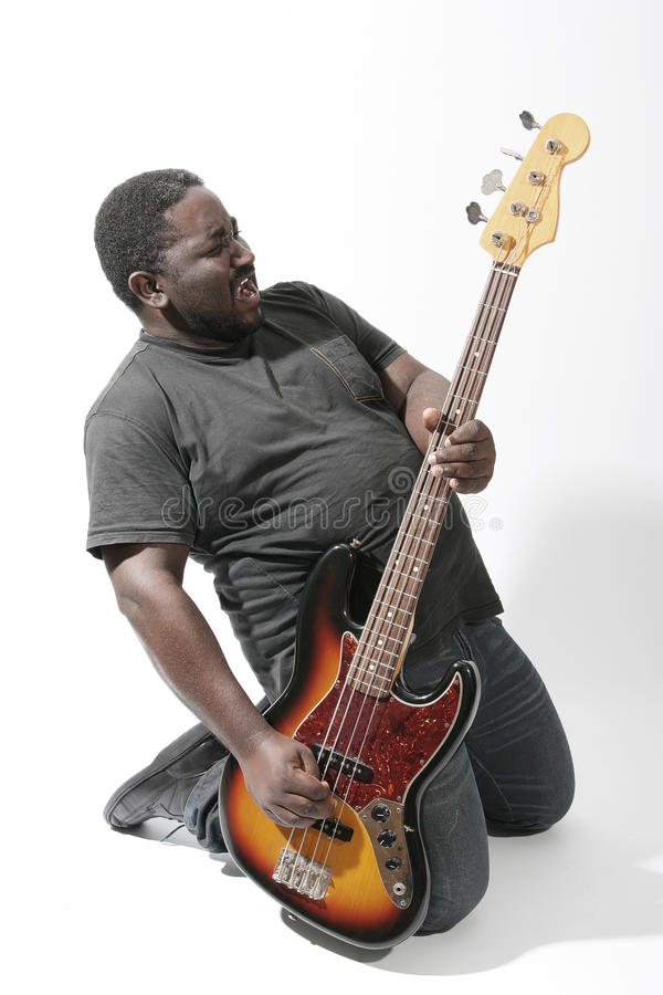 Download Bass player stock photo. Image of melody, electrical - 26430360