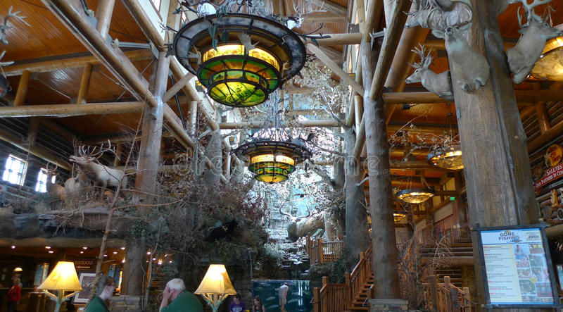 Bass Pro Shops, plafond de Springfield, Missouri photo stock