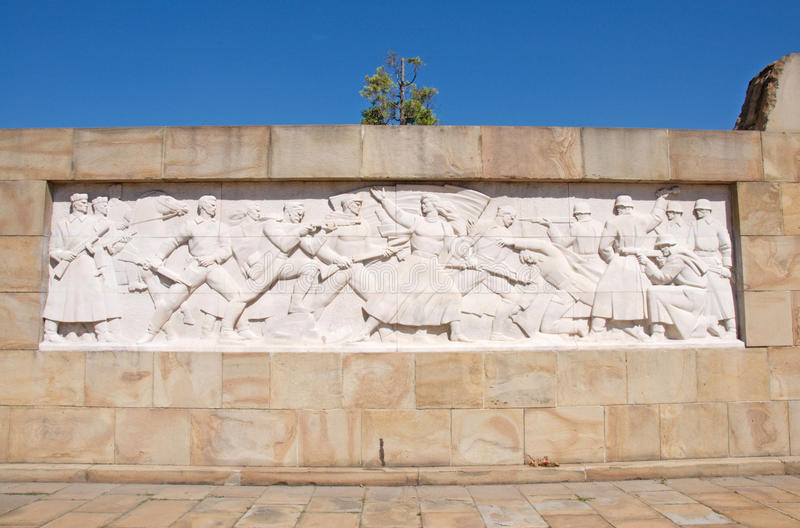 Bass relief showing struggle against Germany, Belgrade, Serbia royalty free stock photography