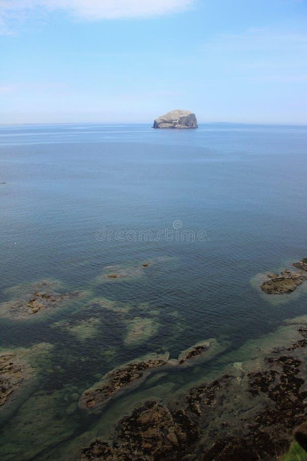 The Bass Rock. Near North Berwick in Scotland stock photography