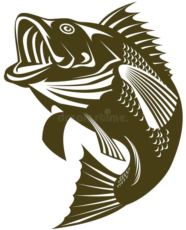 bass skokowy morza royalty ilustracja