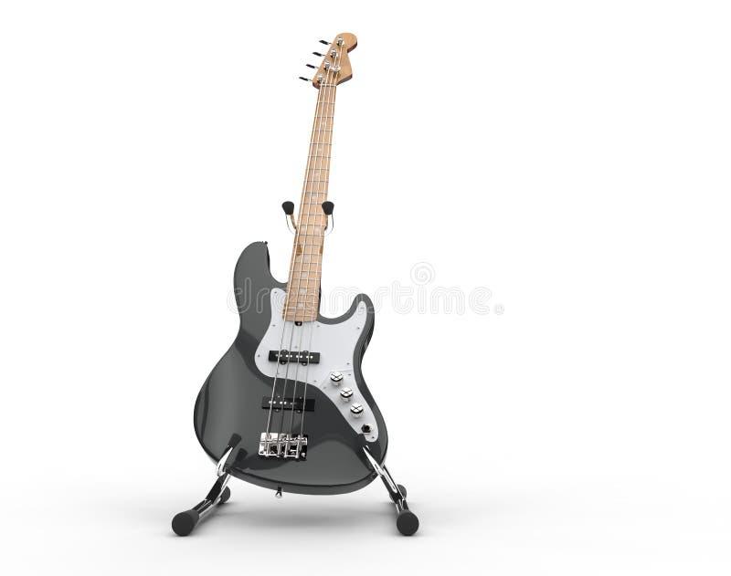 Bass On Stand électrique noir illustration stock