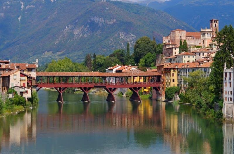 Bassano del Grappa Ponte Vecchio. In northern Italy stock photo