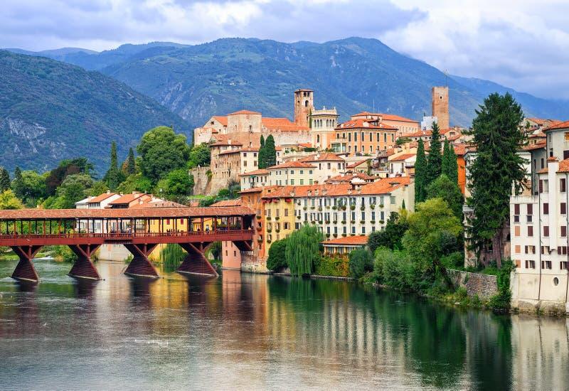 Bassano del Grappa, Veneto, Italia immagine stock libera da diritti