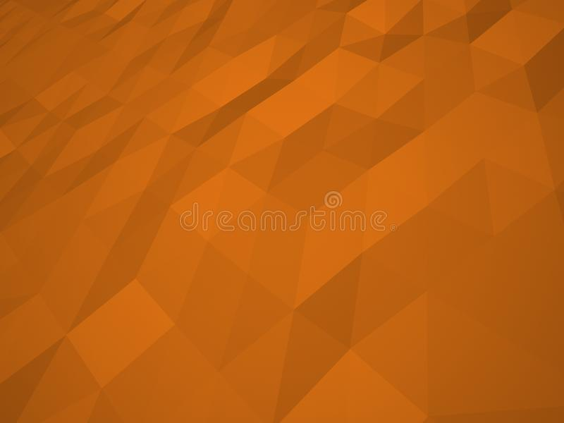 Basse illustration polygonale orange de fond Texture orange, bas poly illustration de vecteur