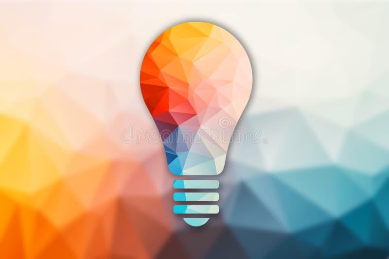 Basse poly ampoule illustration stock