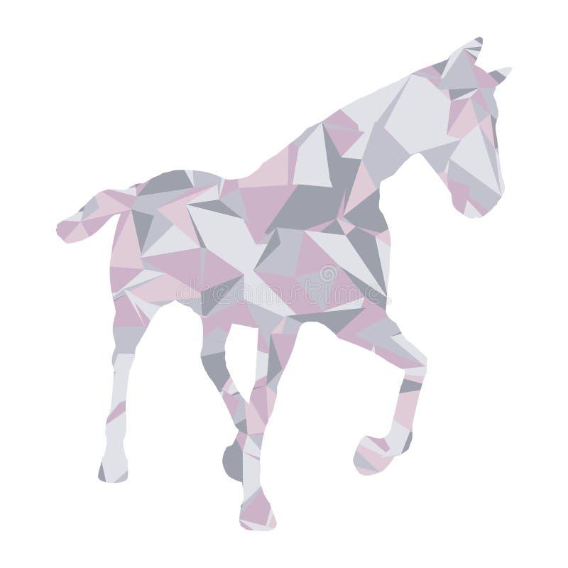 Basse poly conception de cheval illustration de vecteur