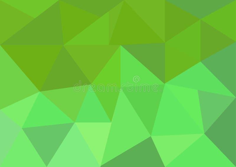 Basse poly conception de vecteur de style, verte et rose basse poly, basse poly illustration de style, bas poly vecteur abstrait  illustration stock