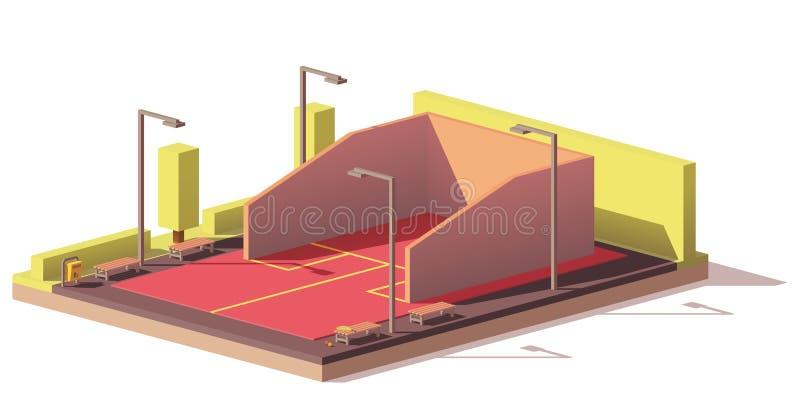 Basse poly cour de courge de vecteur illustration de vecteur