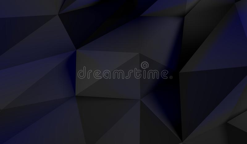 Basse poly forme abstraite illustration stock