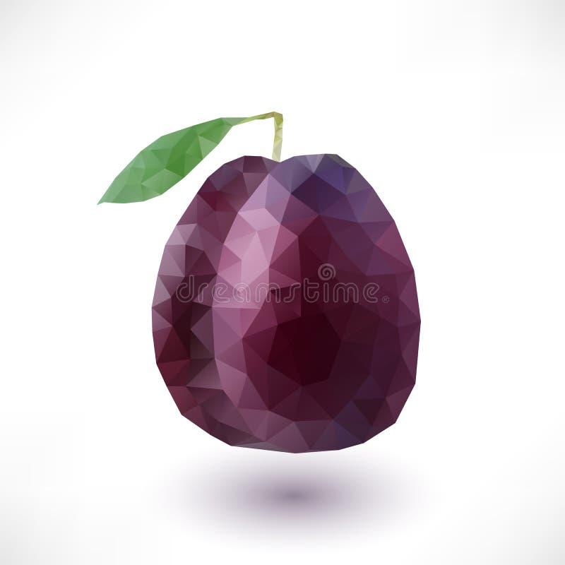 Basse poly prune illustration stock