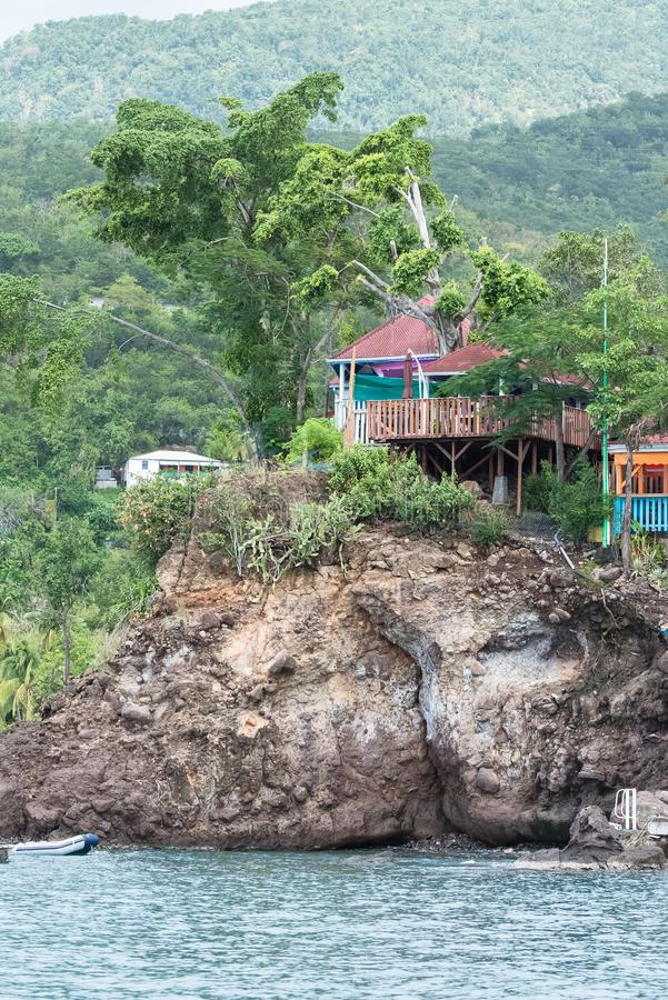 Basse Terre Island in Guadeloupe lizenzfreies stockfoto