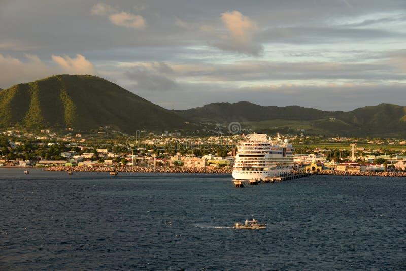 Basseterre, capital de St Kitts e Nevis foto de stock royalty free