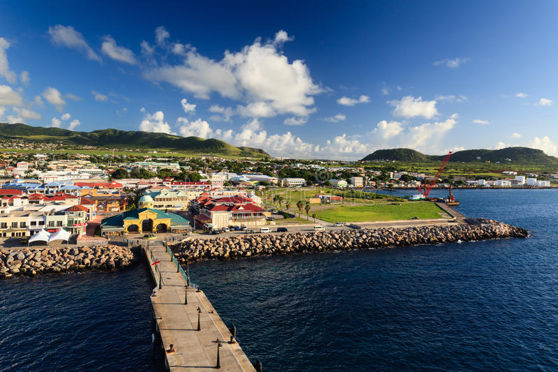 Basseterre Waterfront. Basseterre is the capital of the island of St Kitts, one of the Leeward Islands in the West Indies