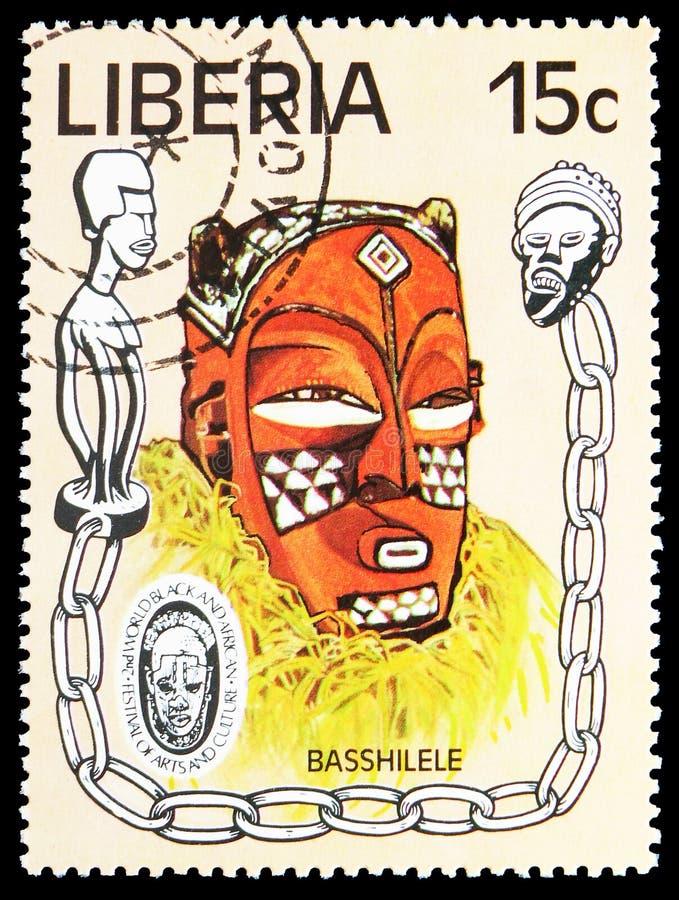Basshilele, het 2de Wereld Zwarte en Afrikaanse Festival van Kunsten en Cultuur serie, circa 1977 royalty-vrije stock fotografie