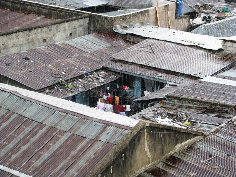 Bassifondi in Africa fotografia stock