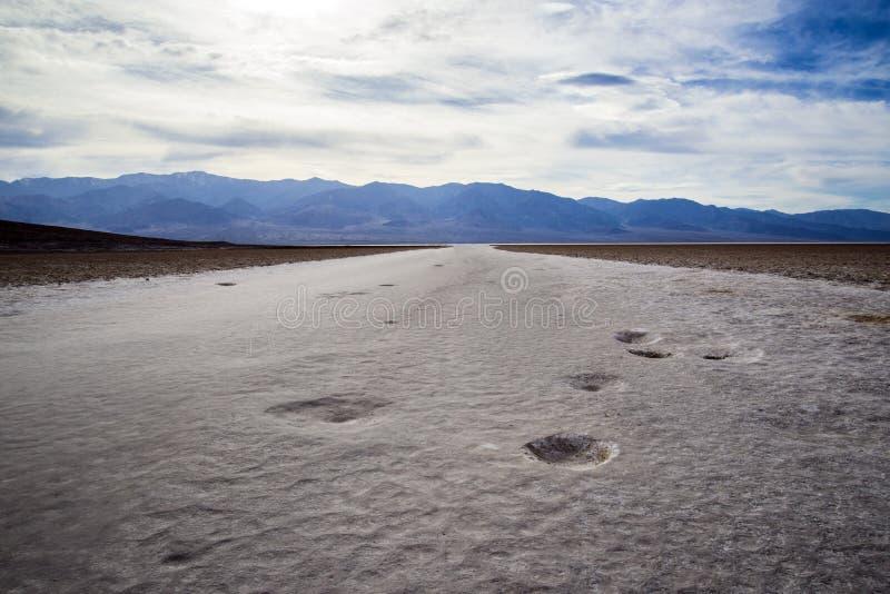 Bassin de Badwater images libres de droits