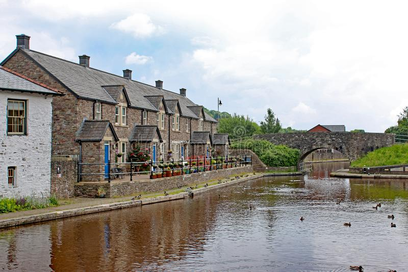 Bassin de canal de Brecon, Pays de Galles photographie stock