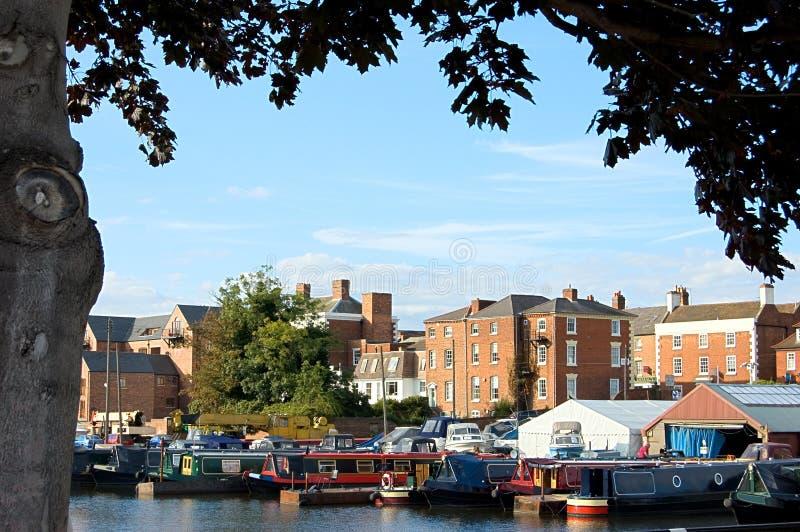Bassin de canal de Stourport image libre de droits