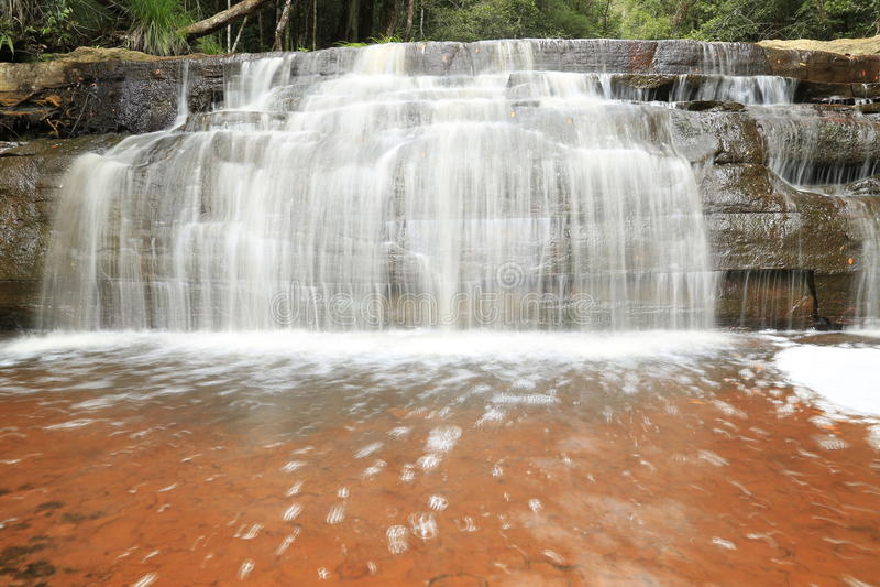 Bassin de maliu de cascade de Giluk images stock