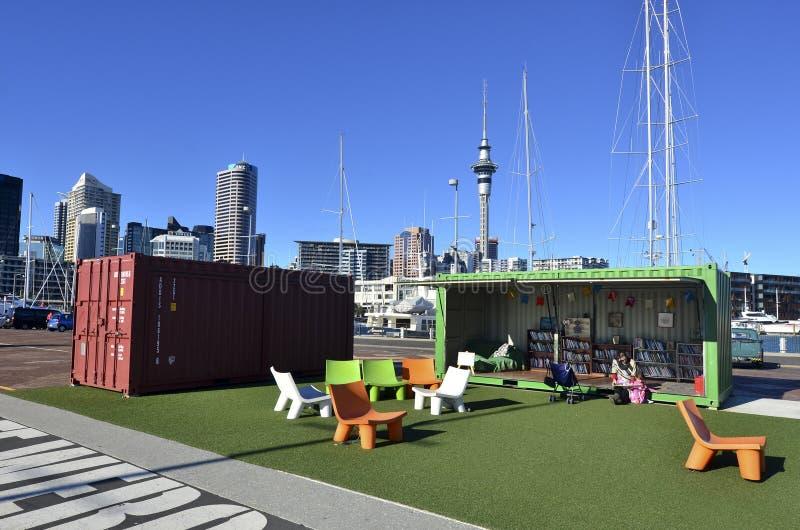 Bassin de port de viaduc d'Auckland - Nouvelle-Zélande image stock
