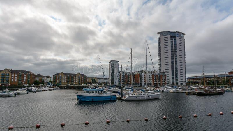 Bassin de Tawe à Swansea B photographie stock
